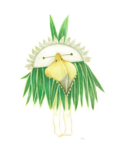figure-masquée-verte