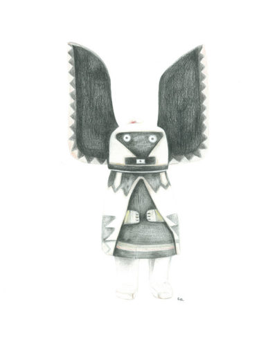 kachina-crow-motherr/crayons de couleurs 30x40cm