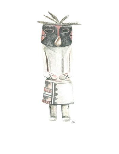 kachina-kokopellir/crayons de couleurs 30x40cm