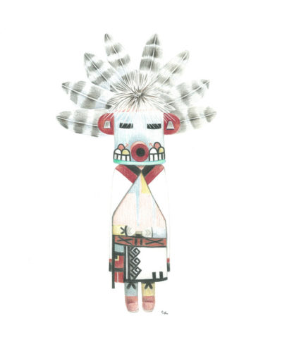 kachina-morning-singer/crayons de couleurs 30x40cm