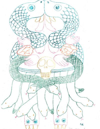 coatlicue-estampe-au-pastel-21x29-cm
