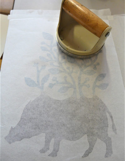 gravure sanglier 2 - papier japonais